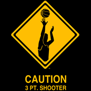 CAUTION 3 PT. SHOOTER T-SHIRT (BLACK)