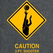 CAUTION 3 PT. SHOOTER T-SHIRT (GRAY)