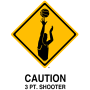 CAUTION 3 PT. SHOOTER T-SHIRT (WHITE)